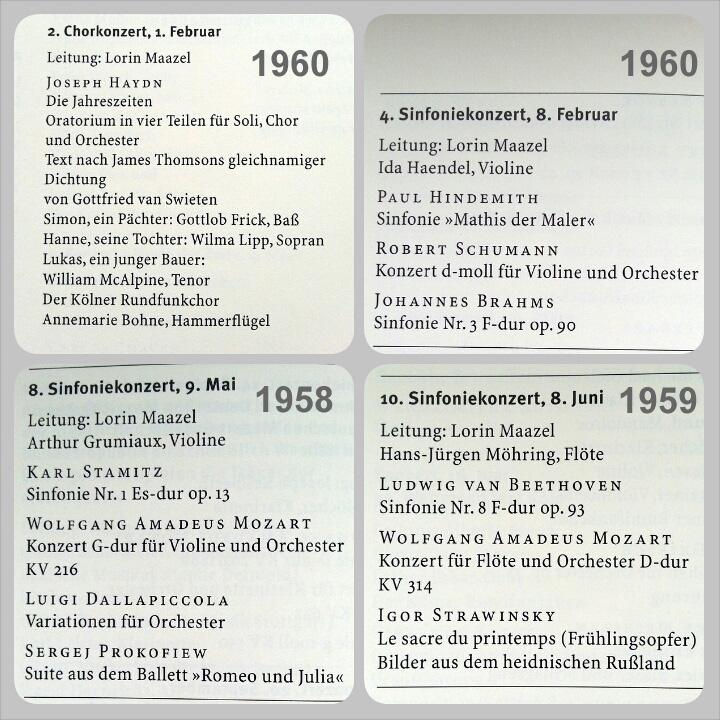 Konzerte des Kölner-Rundfunk-Sinfonie-Orchesters mit Lorin Maazel