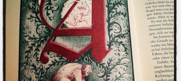 aus: Michael Ende, Die unendliche Geschichte ((Michael Ende, Die unendliche Geschichte von A bis Z mit Buchstaben und Bildern versehen von Roswitha Quadflieg, Stuttgart, 1979, S. 18))